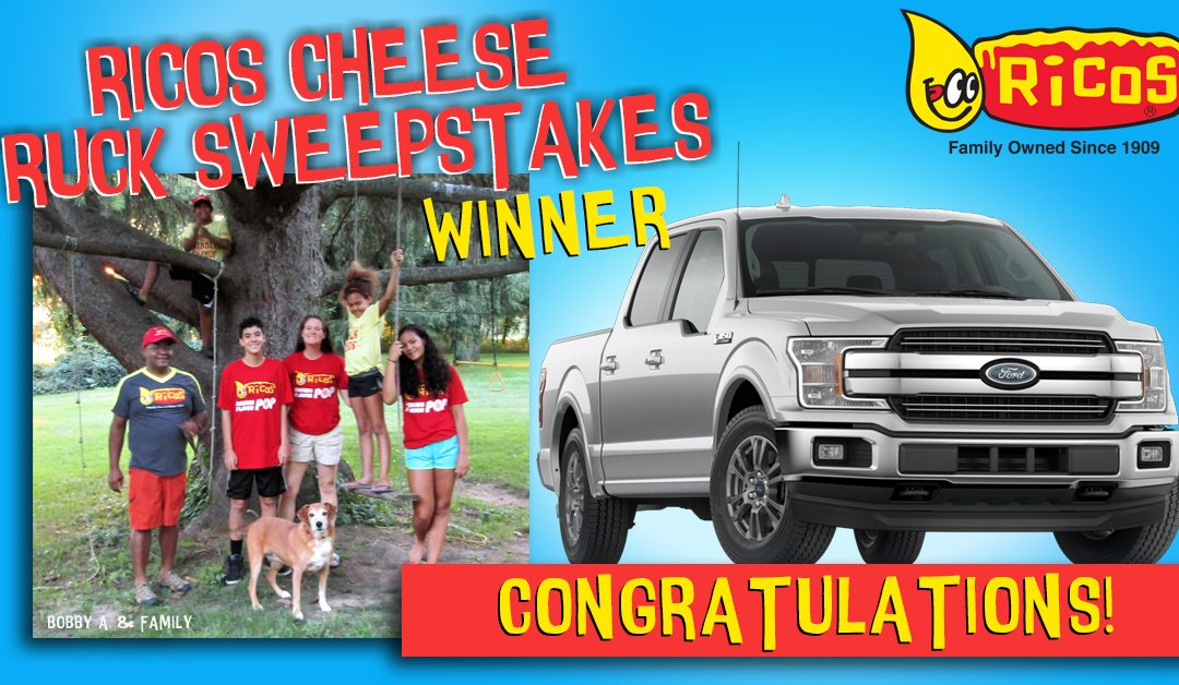 Ricos Cheese Truck Sweepstakes Winner
