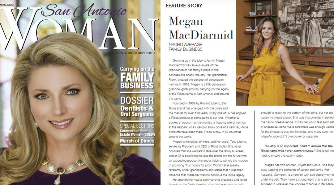 MacDiarmid Featured in San Antonio Woman Magazine