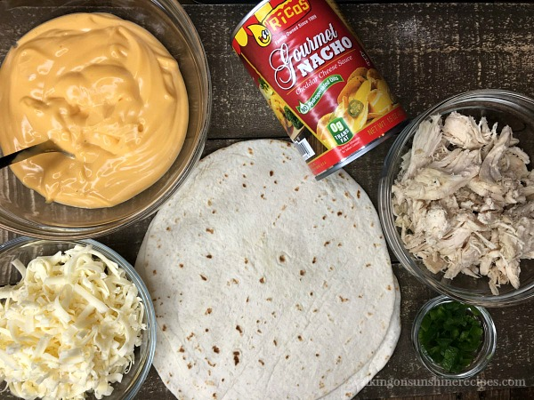 Ingredients for Cheesy Quesadillas from Walking on Sunshine Recipes